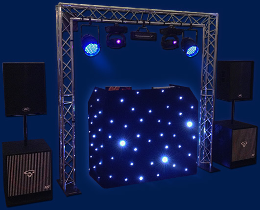 complete disco rig setup for wedding parties in Norwich and Norfolk